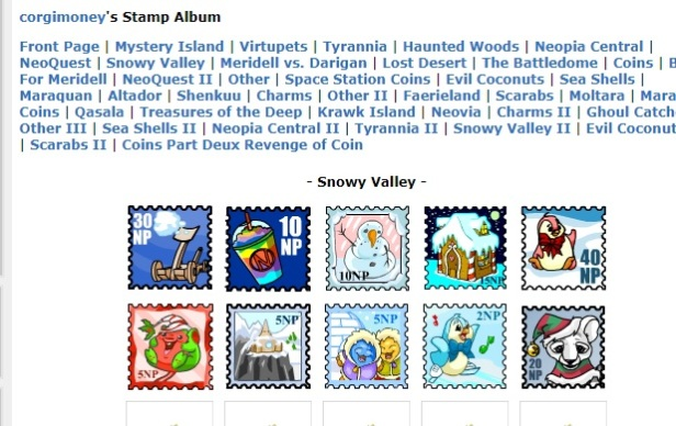 Neopets Stamp album