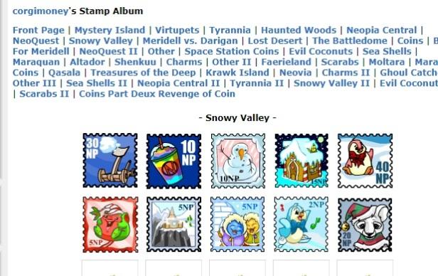 Neopets Stamp album